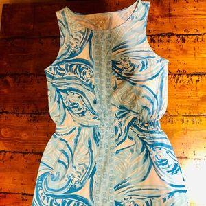 Lilly Pulitzer Blue & White Print Dress